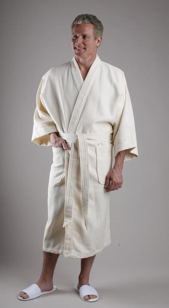 Diamond waffle robe